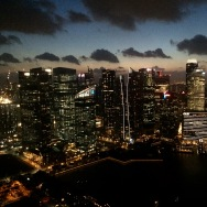 view from the marina bay sands bar